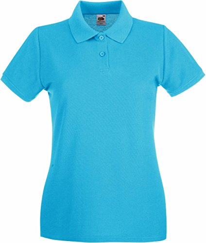 Fruit of the Loom - Lady-Fit Premium Polo - Modell 2013 S,Azure Blue (Polo Premium Pique Womens)