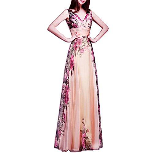 KAXIDY Vestito Fiore Donna Vestiti da Sera Eleganti Vestito da Sera Lungo  Abiti da Cocktail Abiti da Sera (Medium) c4b04b9b9c8
