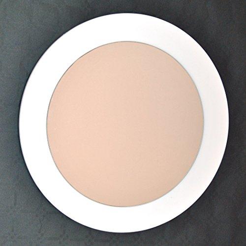 Espejo redondo de pared - Centro Grande - 80 x 80 cm - Lacado Blanco