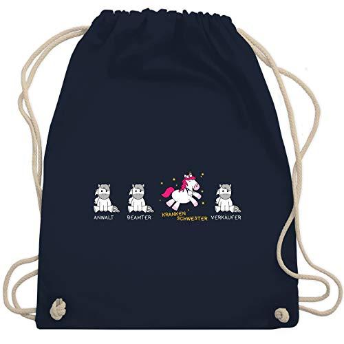 ankenschwester Einhorn - Unisize - Navy Blau - WM110 - Turnbeutel & Gym Bag ()
