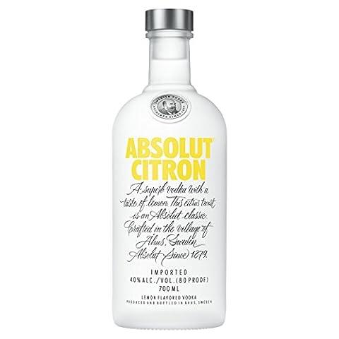 Absolut Citron Lemon Flavoured Vodka, 70 cl