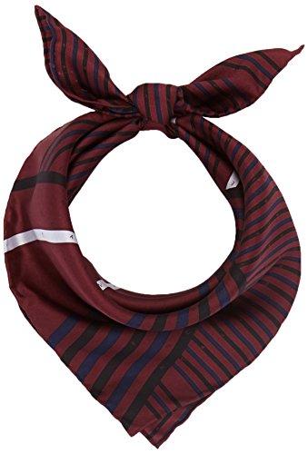 Calvin Klein Silk Logo Foulard Giftpack Sciarpa, Rosso (Bordeaux,Black & Eclipse 910), Taglia unica Donna