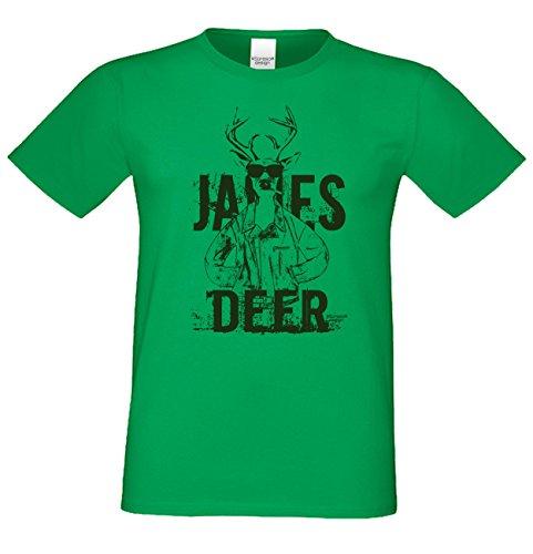 Herren-Trachten-Wiesn-Motiv-Fun-T-Shirt auch in Übergrößen 3XL 4XL 5XL James Deer Farbe: hellgrün Hellgrün