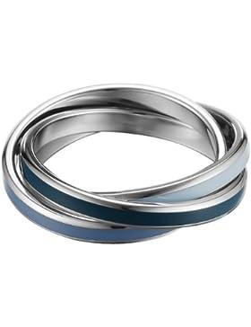 Esprit Damen-Ring Edelstahl rhodiniert Marin blue