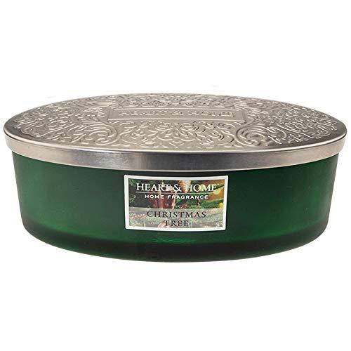 Heart & Home - Home Fragrance Duftkerze Ellipse Christmas Tree 4 Dochte 420 g Limitierte Edition -