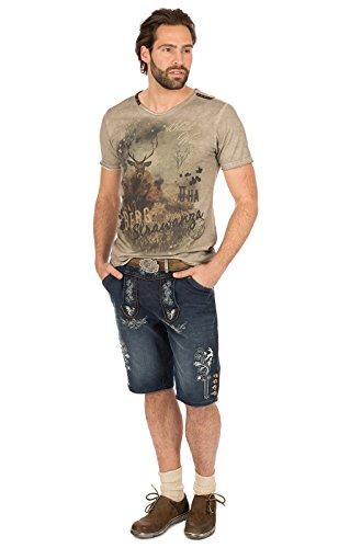 MarJo Trachten T-Shirt M69 - Berg Strawanza brau, 2XL - 4
