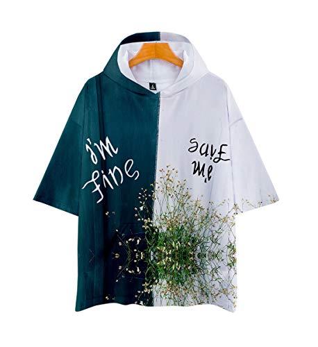 arm Hoodie T-Shirt Kurze Hülsen-Kapuzenpullover KPOP Bangtan Boys Suga Jin Jimin Jung Kook J-Hope Rap-Monster V Jumper ()