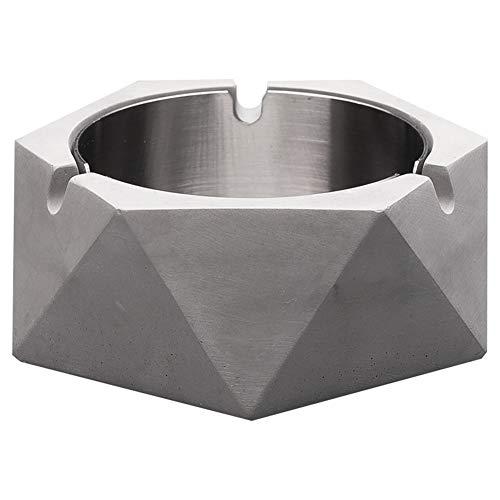 Bcga portacenere grande in cemento, posacenere da tavolo moderno per uso interno o esterno, portacenere per fumatori