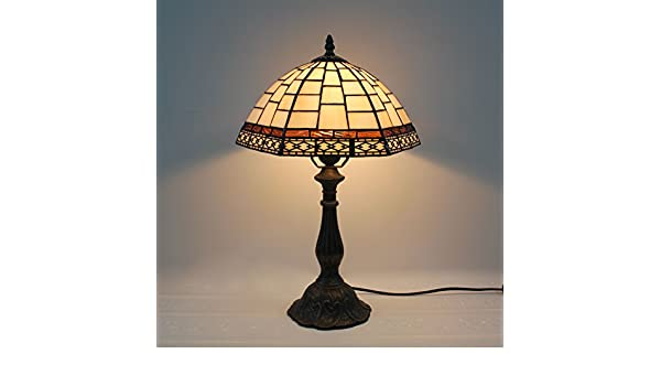 Tiffany Lampen Outlet : Home déco outlets 12 zoll weinlese weiß rasterfeld einfache buntglas