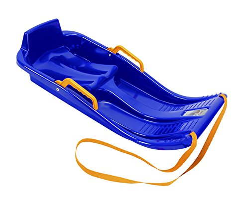 Khw mini bob - slittino di plastica, blu (blu), 90x40x15 cm