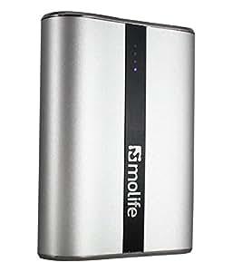 Powerbank, MoLife 10400 mAh Power bank with original LG Lion Cells, High Capacity External Mobile Battery Power Bank
