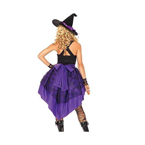 Imagen de disfraz de mujer para adultos de bruja con gorro mágico con cola para fiestas, cosplay y festivales de koola alternativa