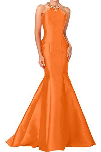 Charmant Damen Schwarz Elegant Meerjungfrau Taft Damen Abendkleider Festlichekleider Partykleider lang Orange