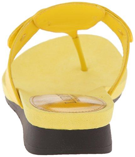 Lauren Ralph Lauren Laurence Heeled Sandal Vibrant Yellow Kidskin