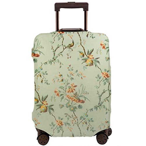 Travel Suitcase Protector,Vintage Wallpaper - Floral Pattern of 18th Century,Suitcase Cover Washable Luggage Cover L 18th Century Place