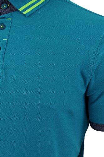 Firetrap Herren Poloshirt Mens Polo Natick Molton - Ocean