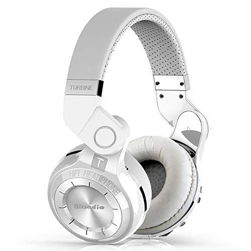 XZZ Drahtloses Headset V4.1 Ohrmuffs Bluetooth-Headset mit Mikrofon und Lautstärkeregelung HiFi Bass-Stereo-Headset unterstützt TF-Karte,White