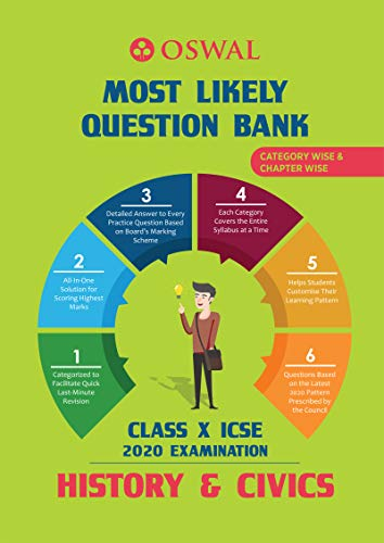 Most Likely Question Bank for History & Civics: ICSE Class 10 for 2020 Examination