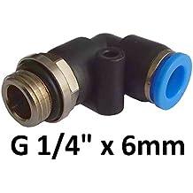6stk Winkelsteckverschraubung verbinder Steckanschluss Druckluft Pneumatik 10mm