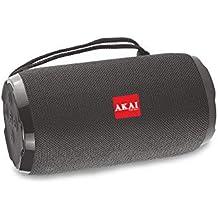 AKAI Bluetooth Wireless Speaker Bass Drum BD-22 10 Watt with Subwoofer, AUX in, TF Card, FM (Black)