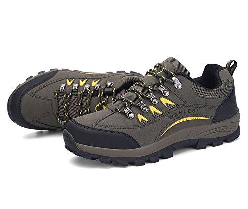Minetom Scarpe da Trekking Uomo Donna, Impermeabile Scarpe da Escursionismo Arrampicata Stivali Unisex Traspirante Antiscivolo Sportive All'aperto Sneakers Outdoor Scarpe C Army Green