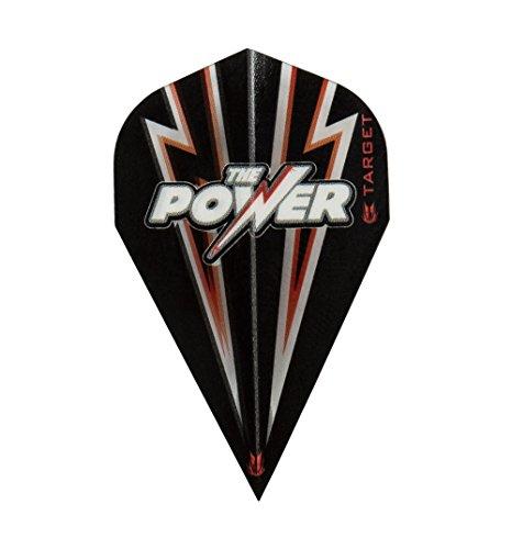 1 x SET PHIL TAYLOR TARGET POWER FLASH schwarz rot VAPOR DART FLIGHTS
