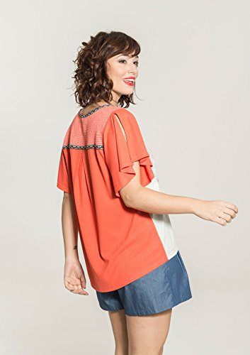 Smash! Kainah, T-Shirt Donna Arancione (Pesca)