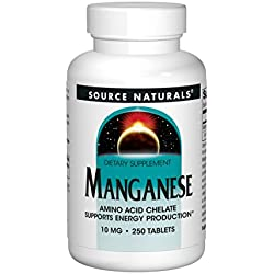 Mangan, 10 mg, 250 Tabletten - Source Naturals