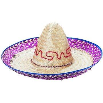 Hut Palmblätter-Sombrero mit Stickerei, ca. 52cm (Kinder Sombrero Hut)