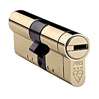 Avocet ABS High Security Euro Door Cylinder 40 (INT) X 45 (EXT) Polished Brass - Anti Snap Lock - Sold Secure Diamond Standard - 3 Star