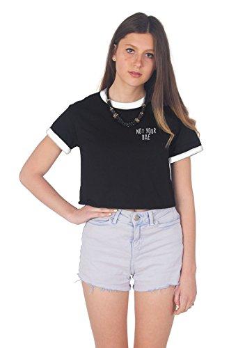 Sanfran Clothing Damen T-Shirt Black (White)