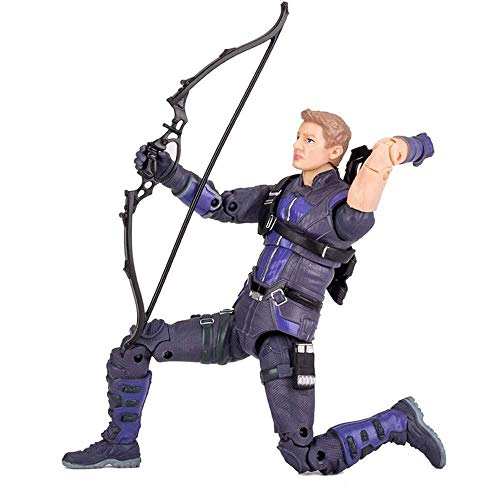Boy Kostüm Hawkeye - MA SOSER Marvel Avengers: Hawkeye Actionfiguren - 7 Zoll / Höhe 18 cm , Boy PVC Hawkeye Spielzeug, Gelenke können aktiv Sein