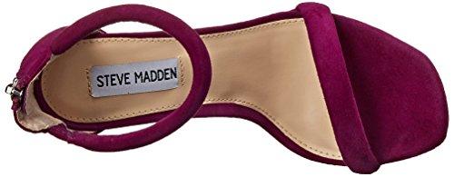 Steve Madden Fancci Suede, Chaussures à Talons avec Bride à la Cheville Femme Violet
