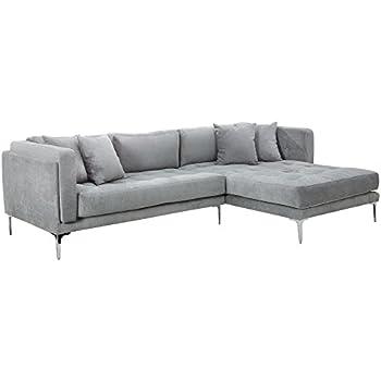 Dieser Artikel Modernes Sofa DAYDREAM Grau Mit Ottomane Rechts Inkl Kissen Ecksofa Couch Wohnzimmer