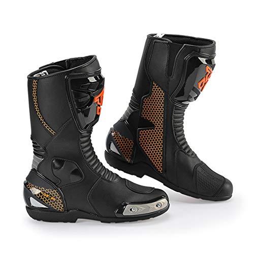 XSWE Mens Offroad-Schuhe, Anti-Rutsch-und Anti-Wrestling-Radschuhe für Männer und Frauen für Schuhe Racing Road Racing,Black,UK7.5(EU41)