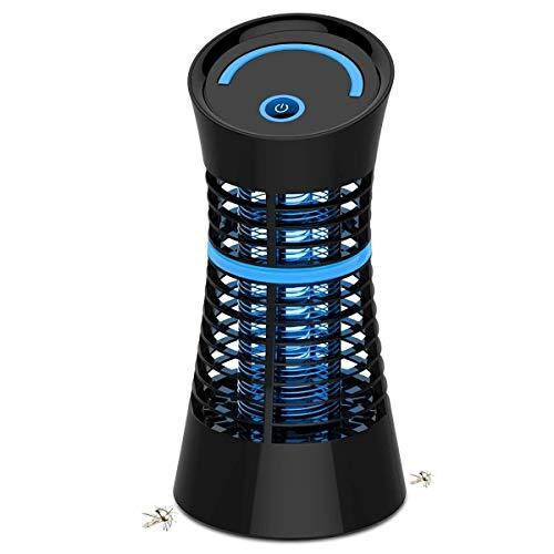 BACKTURE - Trappola elettrica per Insetti, ad Alta Tensione, con Luce UV, sicura al 100%, Colore: Nero