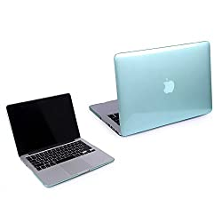 2010kharido Transparent Glossy Hard Case for MacBook Pro 13.3-Top and Bottom Case - See Thru Green