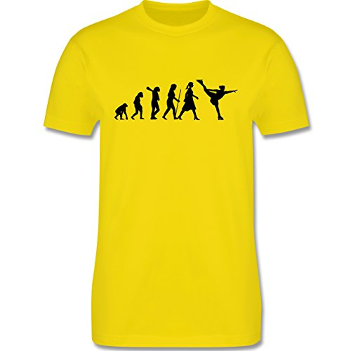 Evolution - Eisläuferin Evolution - Herren Premium T-Shirt Lemon Gelb