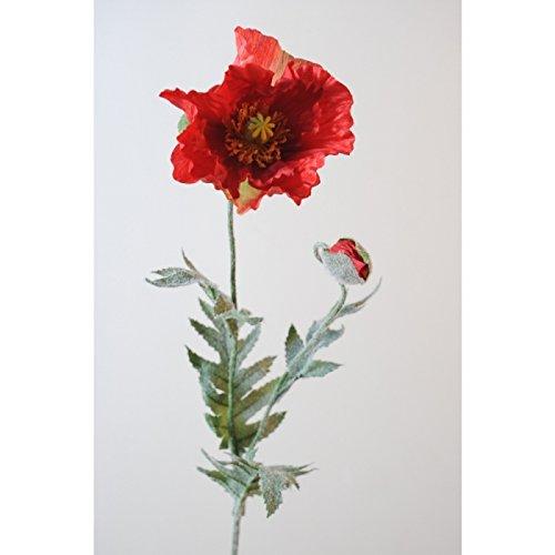 fleur coupee synthetique pavot diam 12 - h : 70