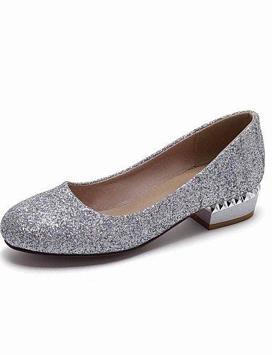 WSS 2016 Chaussures Femme-Mariage / Bureau & Travail / Habillé / Décontracté / Soirée & Evénement-Noir / Blanc / Argent / Or-Talon Bas-Talons / black-us6.5-7 / eu37 / uk4.5-5 / cn37