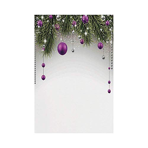 VAICR Home Garden Christmas Decorations Tree Decorations Tinsel and Ball with Gift Wrap Ribbon Picture Purple Grey Greenor Garden Decorative Garden Flag for Outdoor Lawn and Garden Home