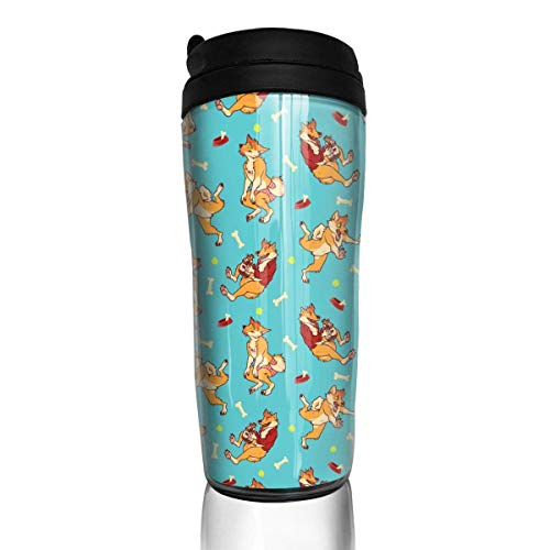 FGRYGF Funny Wolf Bone Unisex Food Grade ABS Travel Mugs Coffee Insulated Thermal Travel Mug Tumbler