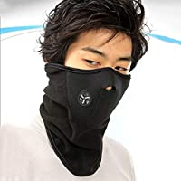 Longspeed Máscara de Ciclismo a Prueba de Viento al Aire Libre Montar Bicicleta Máscara de esquí de Media Cara cálida - Negro