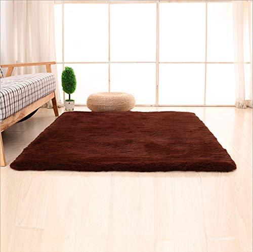 Simple moderno cabello largo hogar 60 * 160 cm cabello largo cabello castaño largo 4.5 cm,Tapete Redondo...