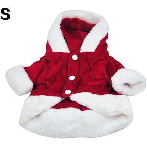 SODIAL(R) Disfraces para perros Navidad del perro del angel Ala Escudo del juego de Santa de lujo para mascotas Regalo - Rojo (S)
