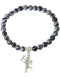 Aretha Jewels 925 Sterling Silver Snow Flake Jasper Bracelet- Bracelet 13