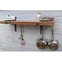 Kitchen shelves Pan rack shelf complete with pan hanging rod (1 shelf) 22cm deep shelving