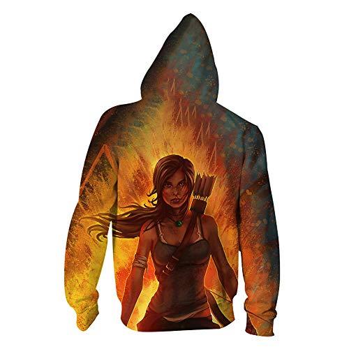 ck Hoodie Kapuzenpullover Langarm Sweatshirt Kapuzenjacke Mit Tunnelzug Pullover Taschen Top Shirt Weihnachten Herbst Rise of The Tomb Raider Zipper M ()
