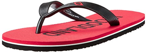 Woodland Men's Red and Black Flip Flops Thong Sandals - 7 UK/India (41 EU)  available at amazon for Rs.276