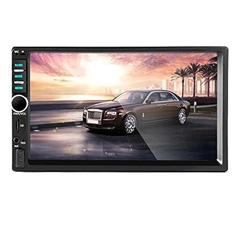 lacaca 17,8cm Bluetooth Digital TFT Touchscreen-INDASH Auto Stereo MP5Player unterstützt FM/SD/USB/AUX Input freisprechanrufe Power Ausgang Fernbedienung